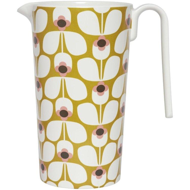 Orla Kiely Melamine Jug Pitcher Wallflower Candy Floss