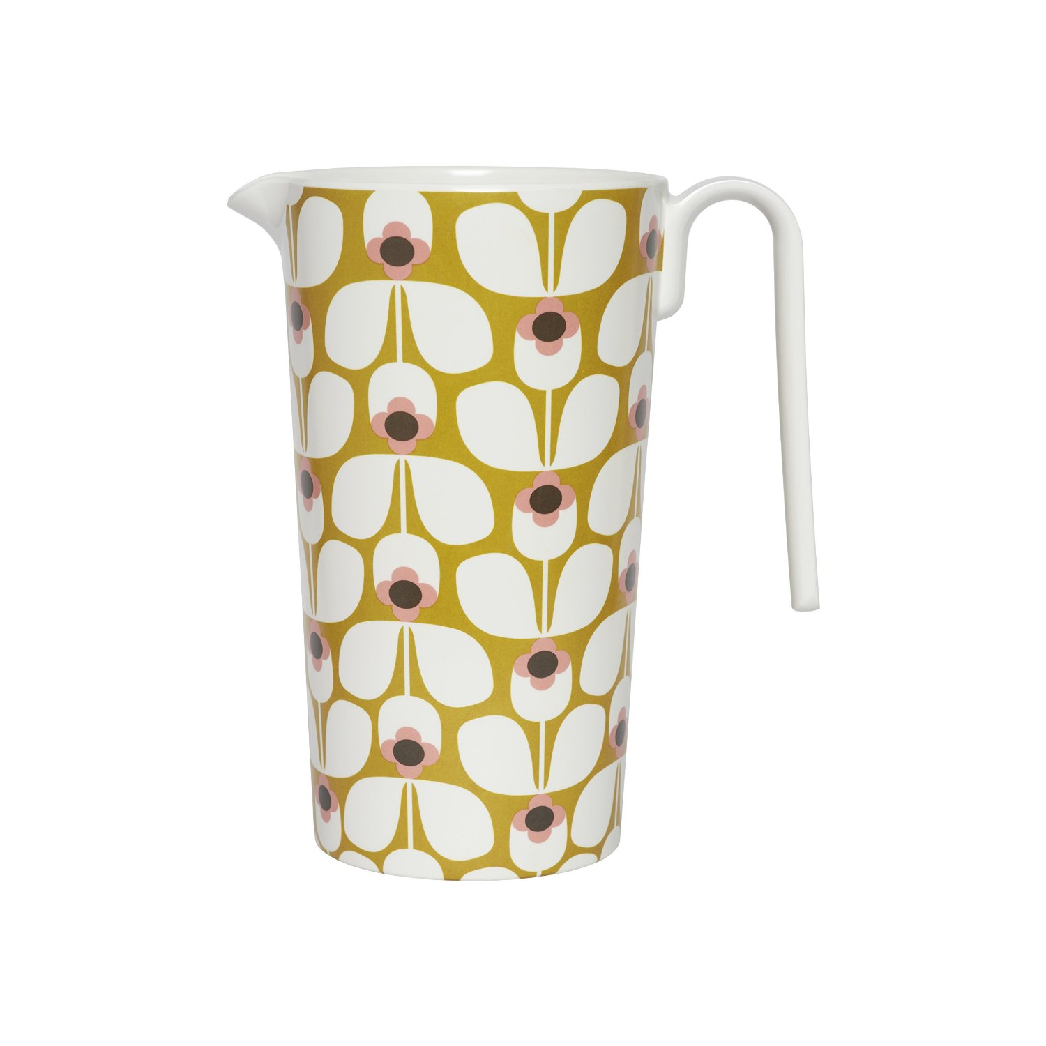 Orla Kiely Melamine Jug Pitcher Wallflower Candy Floss