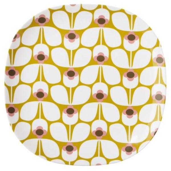 Orla Kiely Melamine Plate | Large | Wallflower