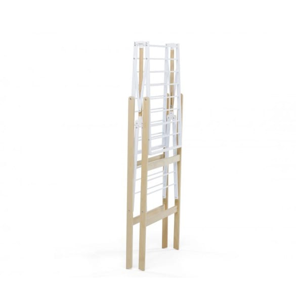 Foppapedretti Ciak Fold Drying Rack | Natural & White