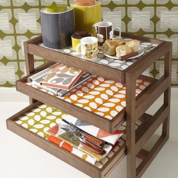 Orla Kiely Stem Tray Side Table