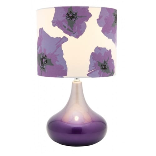 Akira Purple Table Lamp