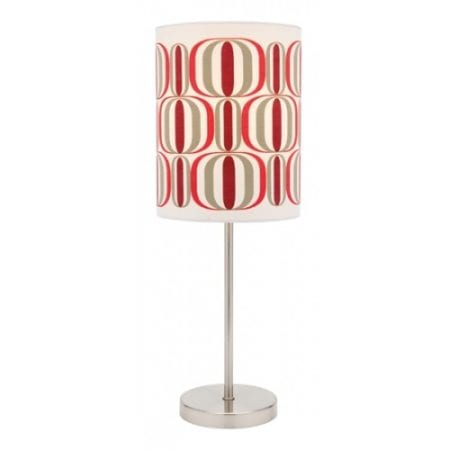 Retro Table Lamp Red