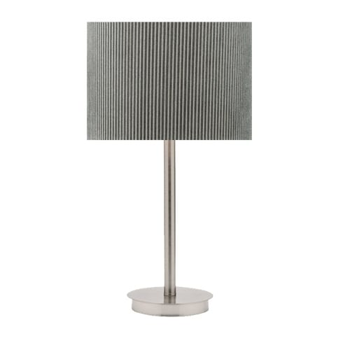 Ripple Grey Nickel Table Lamp