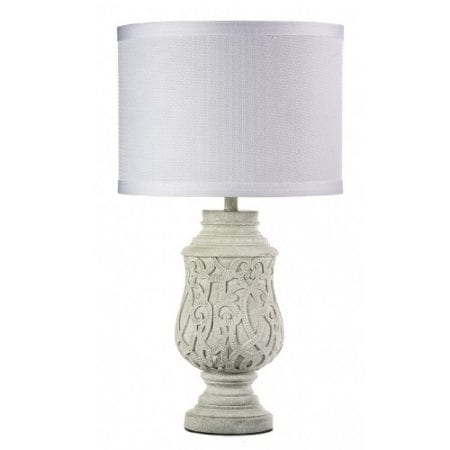 Sellos Cement White Table Lamp