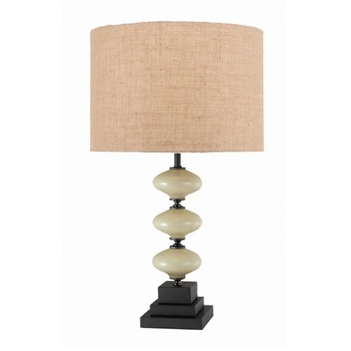 Shakespeare Dylan Hessian Table Lamp