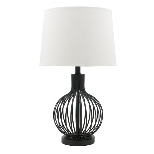 Stereo White Table Lamp