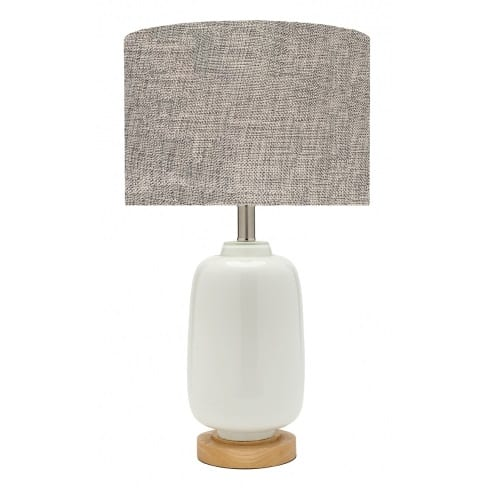 Torquay Large Grey Table Lamp