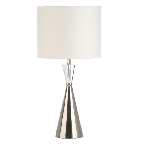 Tower Crystal White Table Lamp