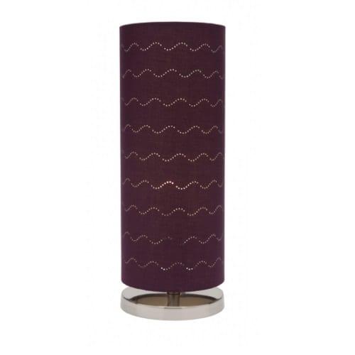 Vardy Purple Table Lamp