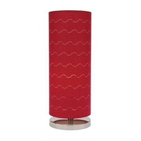 Vardy Red Table Lamp