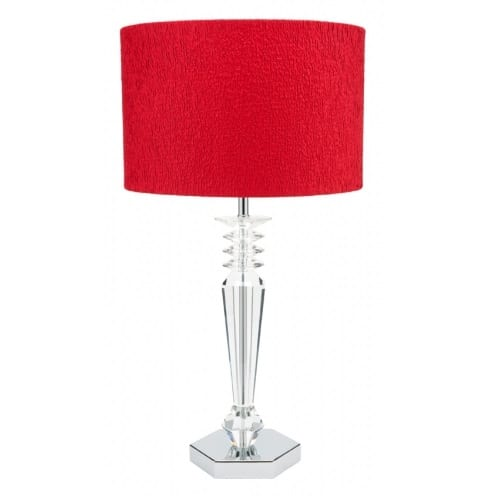 Zeina Red Table Lamp