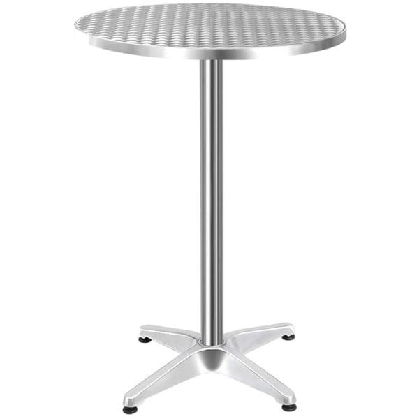 Gardeon Aluminium Adjustable Round Bar Table - Silver