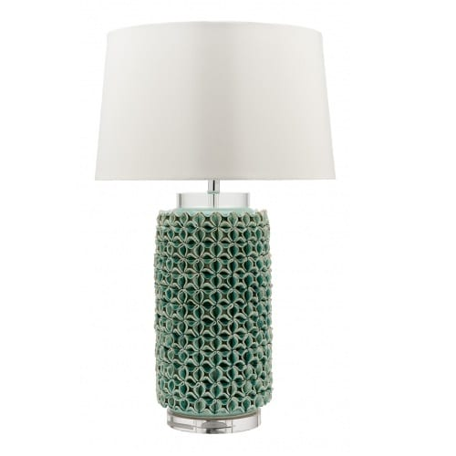 Coral Mist White Table Lamp