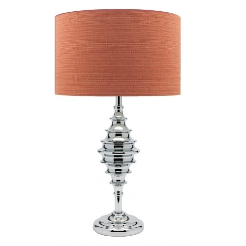 Fibre Chrome Orange Table Lamp