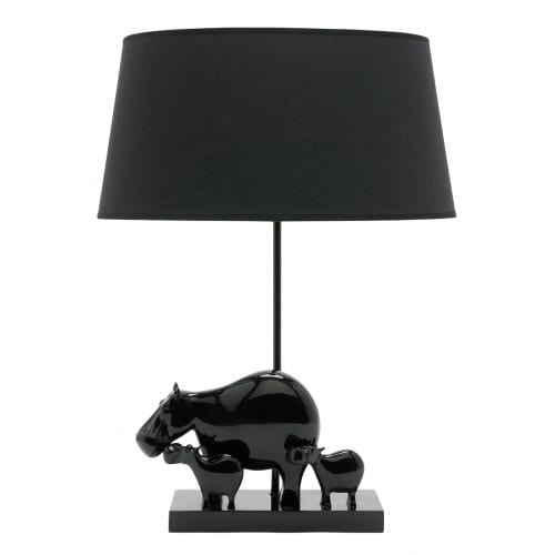 Hippo Black Table Lamp