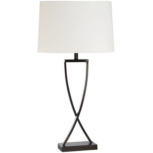 Knox Deluxe White Table Lamp