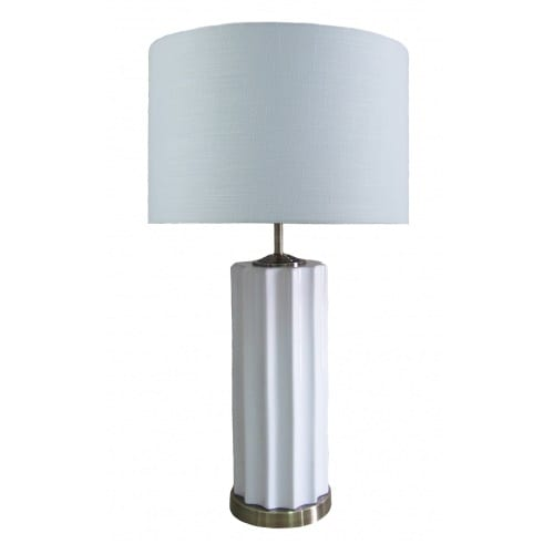 Malibu Table Lamp White