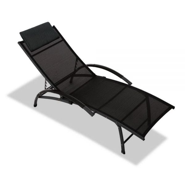 Portable Reclining Lounge Chair - Black