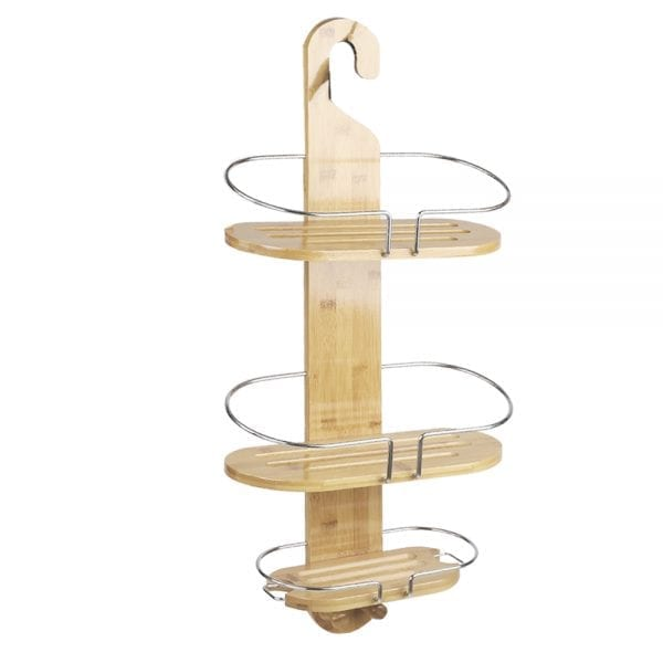 Bamboo Shower Caddy with Hanging Hook