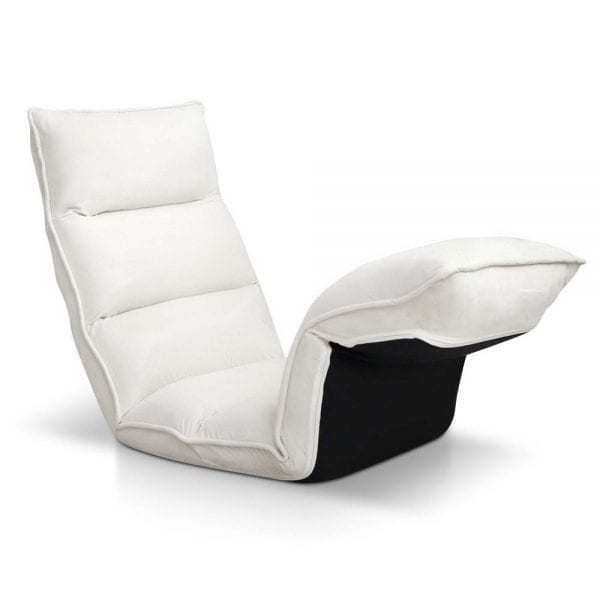 Artiss Adjustable Lounge Sofa Chair - Ivory