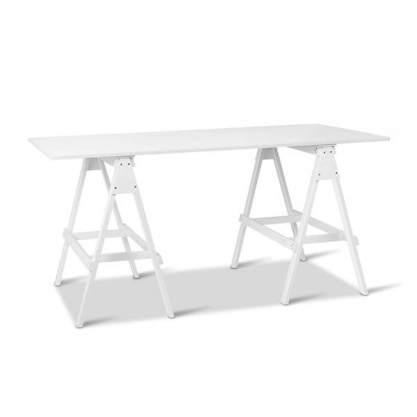 Artiss Wooden Study Desk with Storage Shelf - White