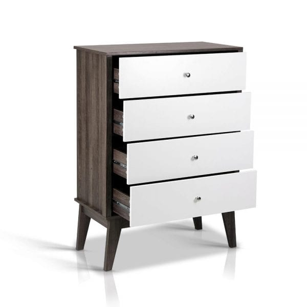 4 Chest of Drawers Storage Cabinet - White