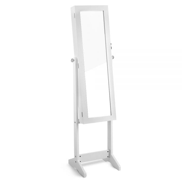 Jewellery Cabinet with Mirror | White | 110cm