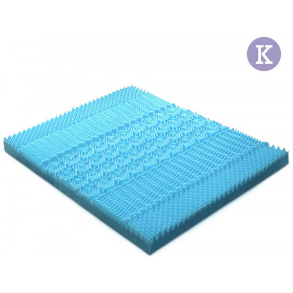 King Size 5cm Thick Cool Gel Mattress - Blue