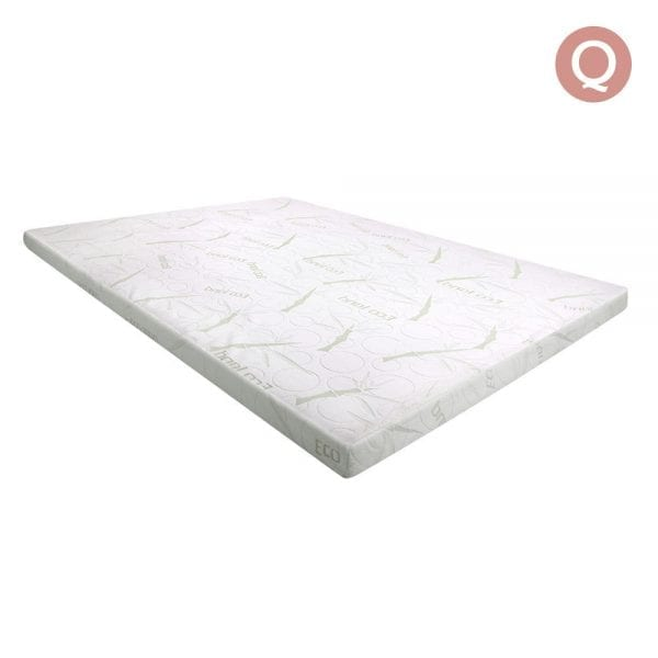 Giselle Bedding Queen Size 7cm Thick Bamboo Fabric Mattress Topper - White