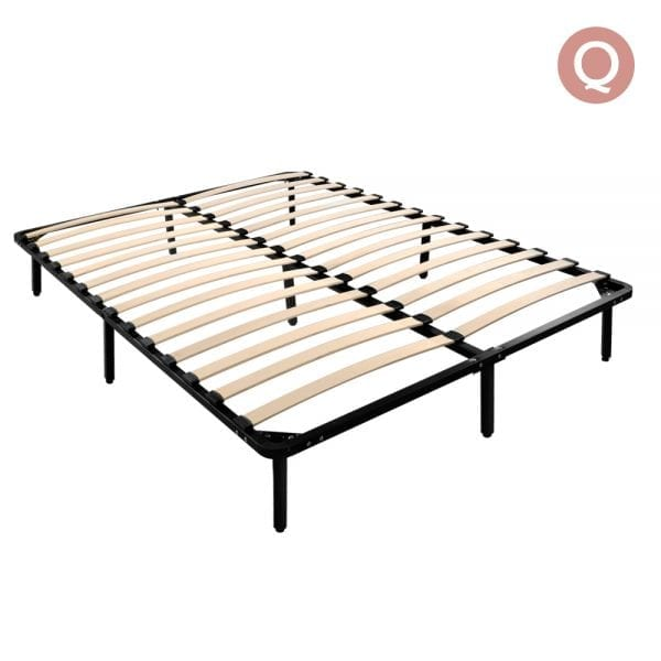 Queen Size Metal Bed Base - Black