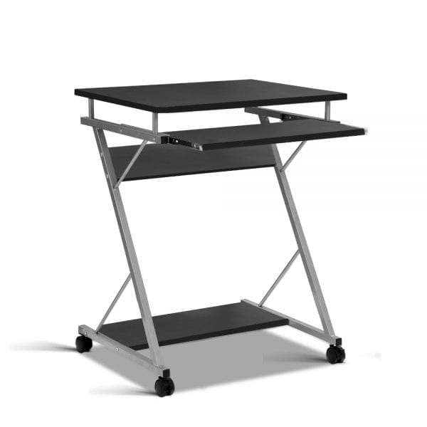Metal Pull Out Table Desk - Black