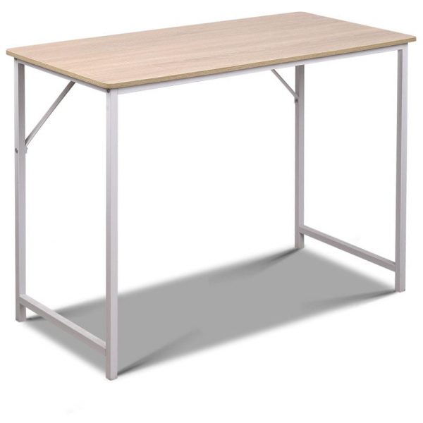 Minimalist Metal Desk - White