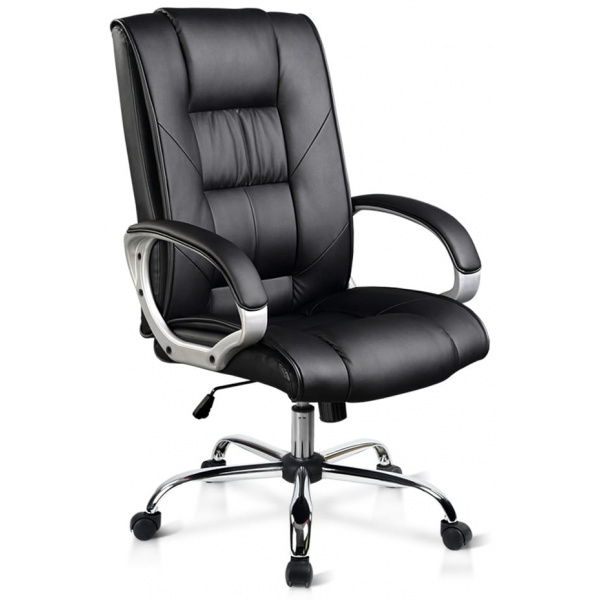 Leo Leather Office Chair Black