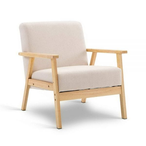 Fabric Dining Armchair - Beige
