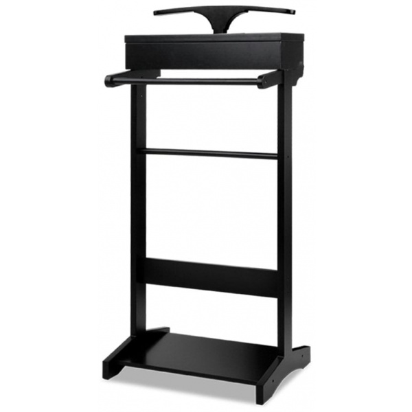 Valet Stand with Storage - Black