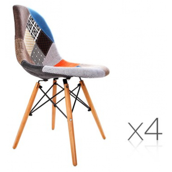 Eames Inspired Dining Chairs Multi Colour 4