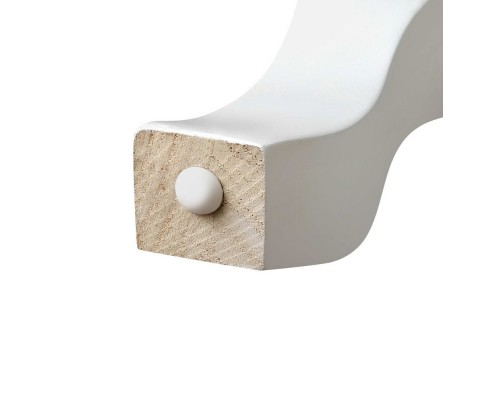 Zoe Bedside Side Table White
