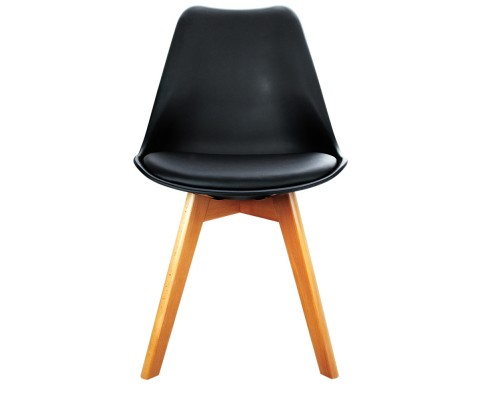 Eames Inspired Dining Chairs Black 4