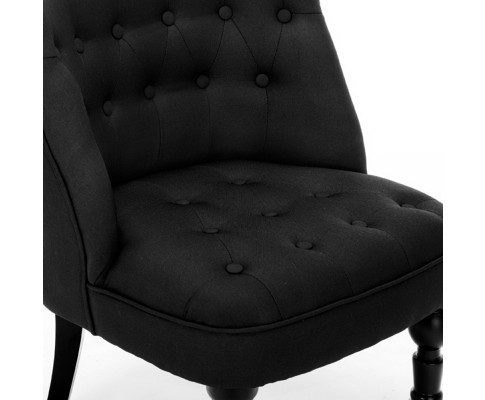 Laurant French Provincial Chair Black