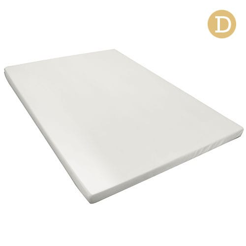 Double Size 8cm Memory Foam Mattress Topper - White