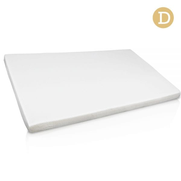 Double Size 7cm Memory Foam Mattress Topper - White