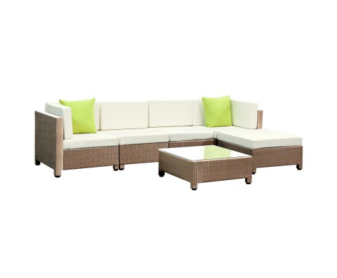 Monacco 6 Seat Outdoor Sofa Brown
