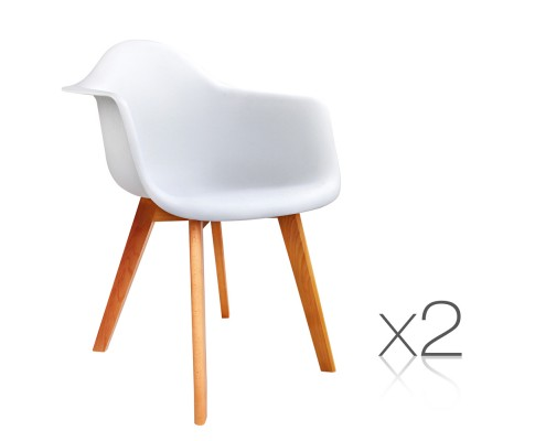 Replica Eames Dining Chairs White 2