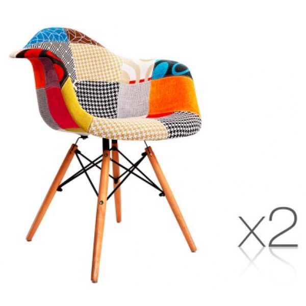 Replica Eames Fabric Armchairs 2
