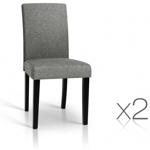 Charlie Dining Chairs Grey 2 Set