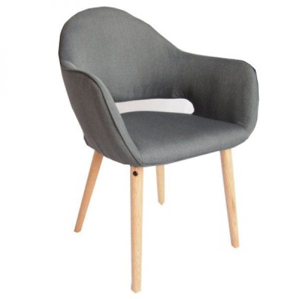 Atlas Charcoal Grey Fabric Chair Set of 2