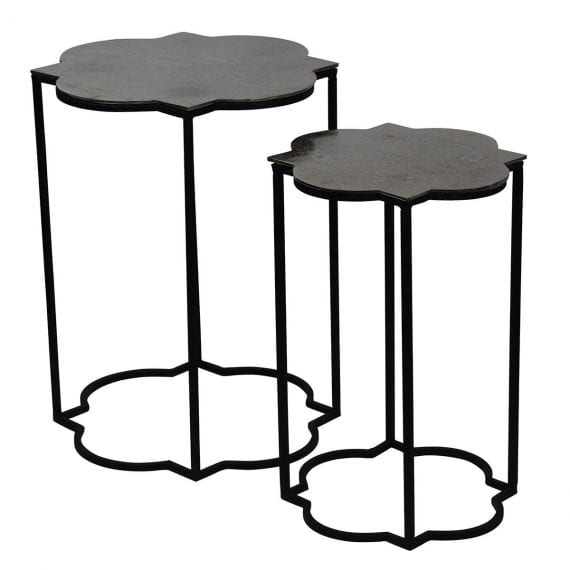 Lucca Side Tables Nickel Theo and Joe