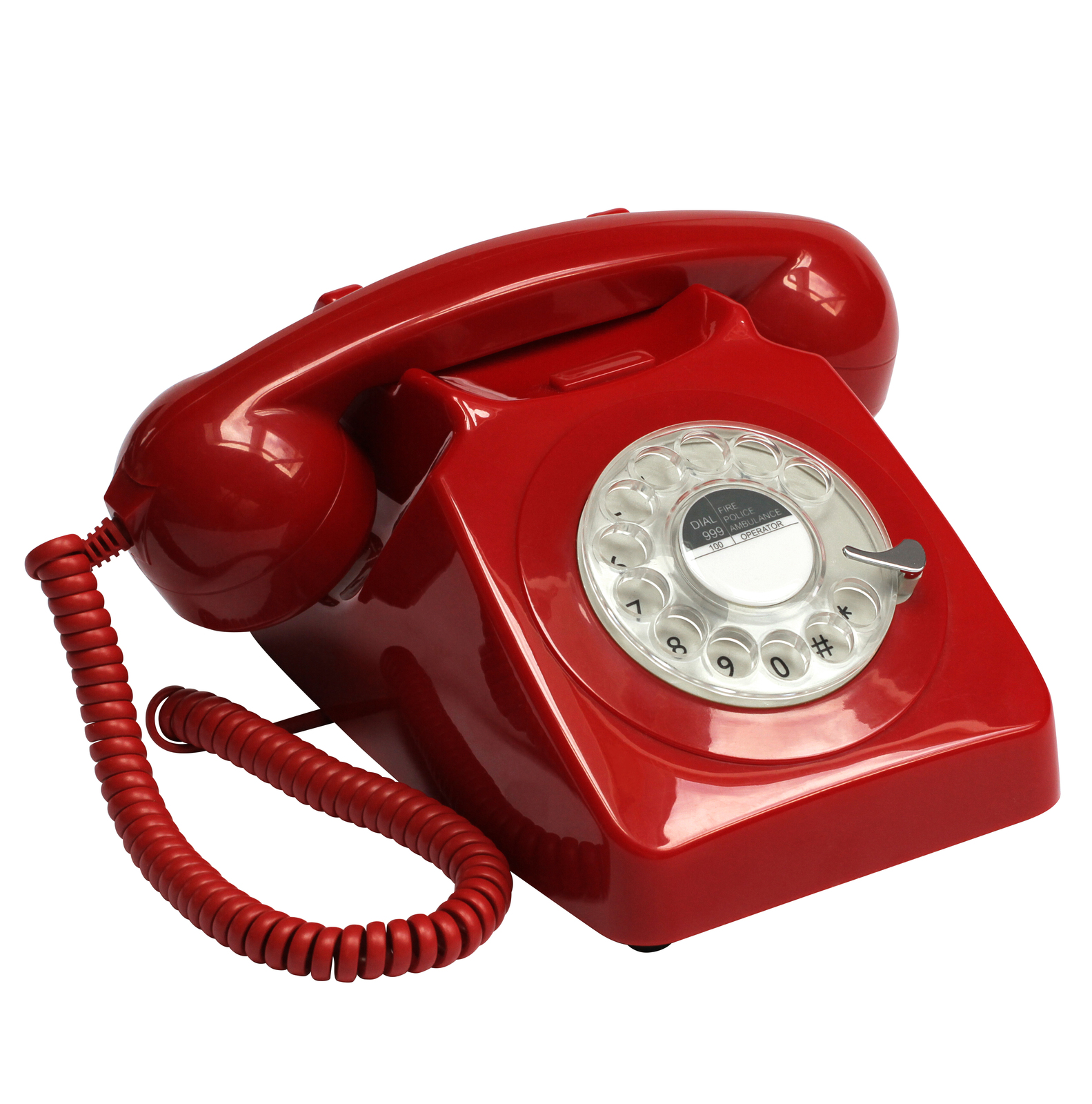 GPO 746 Traditional Rotary Dialing Telephone Red