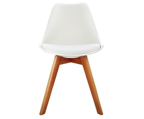 Eames Inspired Padded Dining Chair White | 4